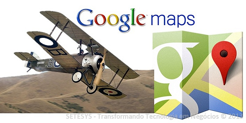 Tutorial sobre sobrevôo de Rotas no Google Maps