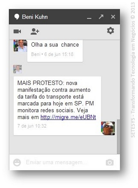 Tutorial sobre Hangout no Gmail